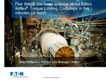 Eaton Torque Limiting Coupling overview